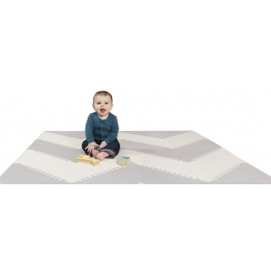 Mata piankowa Playspot 144 x 180 Grey/Cream Geo - Skip Hop
