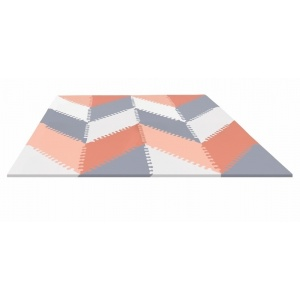 Mata piankowa Playspot 144 x 108 Grey/Peach Geo - Skip Hop