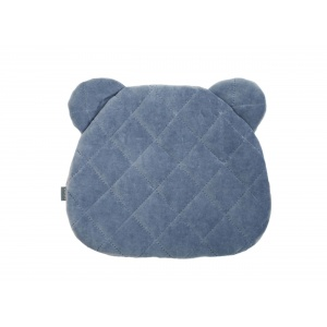 Misiowa poduszka Royal Baby, denim - Sleepee